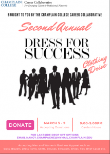 Collecting Clothing Donations for 2nd Annual Dress for Success Event (March 5th-9th)
