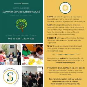 Paid Summer Internship Program- Summer Service Scholars