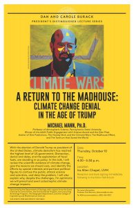 Mike Mann coming to UVM to speak about climate and politics – October 10